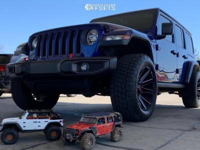 "2019 Jeep Wrangler - 20x10 -18mm - Moto Metal Mo998 - Stock Suspension - 35"" x 12.5"""