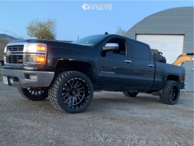 "2014 Chevrolet Silverado 1500 - 22x12 0mm - TIS 547bm - Suspension Lift 3.5"" - 355/50R22"