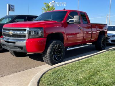 "2010 Chevrolet Silverado 1500 - 20x10 -12mm - Wicked Offroad W901 - Suspension Lift 2.5"" - 33"" x 12.5"""