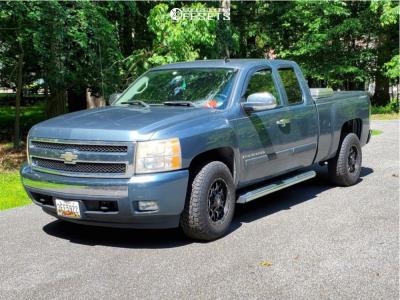 2007 Chevrolet Silverado 1500 - 17x9 -12mm - Mayhem Warrior - Stock Suspension - 265/75R17