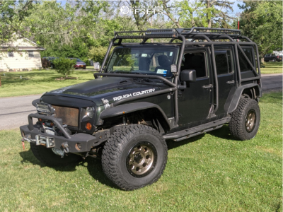 "2011 Jeep Wrangler - 17x9.5 0mm - American Racing Ar201 - Suspension Lift 3.5"" - 35"" x 12.5"""