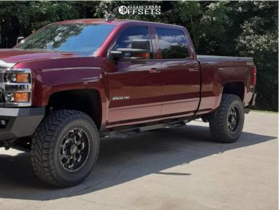 "2016 Chevrolet Silverado 2500 HD - 18x10 -24mm - Sota Novakane - Stock Suspension - 35"" x 12.5"""
