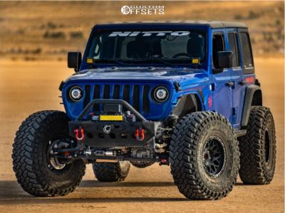 "2018 Jeep Wrangler - 17x9 -12mm - Klutch Offroad Kt02 - Stock Suspension - 40"" x 13.5"""