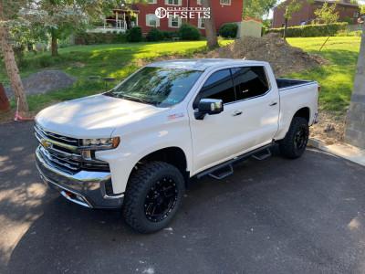 "2019 Chevrolet Silverado 1500 - 20x10 -24mm - MKW M205 - Suspension Lift 4"" - 35"" x 12.5"""