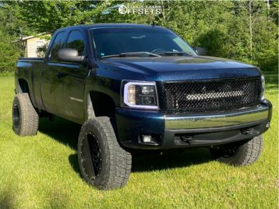 "2008 Chevrolet Silverado 1500 - 20x12 -51mm - Hardrock Overdrive - Suspension Lift 7.5"" - 35"" x 12.5"""