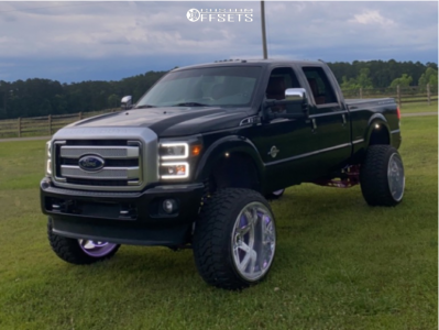 """2015 Ford F-250 Super Duty - 26x16 -101mm - KG1 Forged COMPASS - Suspension Lift 8"""" - 37"""" x 14.5"""""""