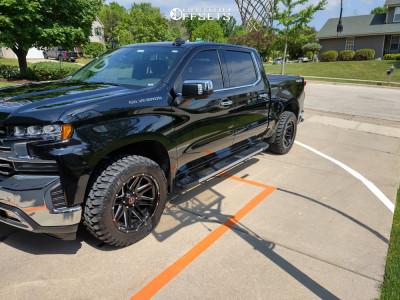 "2021 Chevrolet Silverado 1500 - 20x10 -12mm - Wicked Offroad W901 - Stock Suspension - 33"" x 12.5"""