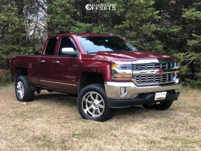 "2017 Chevrolet Silverado 1500 - 20x10 -18mm - Fuel Maverick - Suspension Lift 4"" - 33"" x 12.5"""