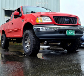 """2000 Ford F-150 - 17x8.5 18mm - Vision Warrior - Suspension Lift 6"""" - 35"""" x 12.5"""""""