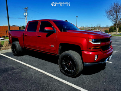 "2018 Chevrolet Silverado 1500 - 22x12 -44mm - Ballistic Beast - Suspension Lift 4"" - 305/45R22"