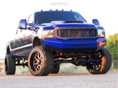 """2003 Ford F-350 Super Duty - 24x12 -51mm - Axe Offroad Nemesis - Suspension Lift 6"""" - 35"""" x 13.5"""""""