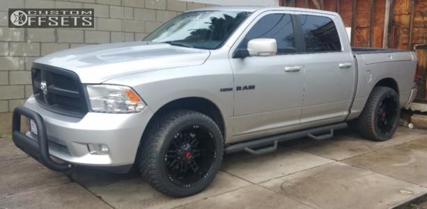 2009 Dodge Ram 1500 - 22x11 -24mm - Havok H103 - Leveling Kit - 305/45R22