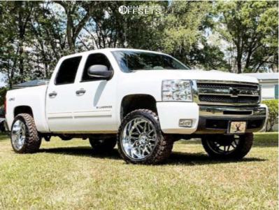 """2010 Chevrolet Silverado 1500 - 22x12 -57mm - Hostile Sprocket - Leveling Kit - 33"""" x 12.5"""""""