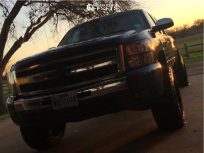 "2011 Chevrolet Silverado 1500 - 22x12 -44mm - Lonestar Outlaw - Suspension Lift 3.5"" - 33"" x 12.5"""