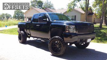 """2008 Chevrolet Silverado 1500 - 20x12 -44mm - Black Rhino Glamis - Suspension Lift 7.5"""" - 35"""" x 12.5"""""""