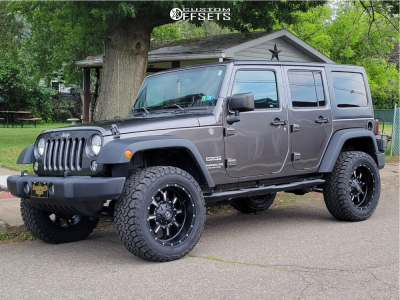 "2016 Jeep Wrangler - 20x10 -12mm - Fuel Krank - Suspension Lift 2.5"" - 33"" x 12.5"""