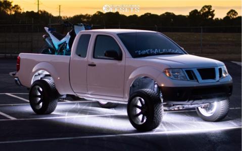 "2014 Nissan Frontier - 20x12 51mm - Toxic Widow - Suspension Lift 6"" - 265/50R20"