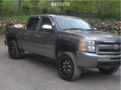 "2009 Chevrolet Silverado 1500 - 20x9 18mm - Dropstars 645mb - Leveling Kit - 32"" x 11.5"""
