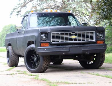 "1974 Chevrolet C20 Pickup - 20x12 -44mm - Motiv Offroad Magnus - Stock Suspension - 33"" x 12.5"""