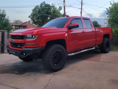 "2016 Chevrolet Silverado 1500 - 18x9 -12mm - Method Mr305 - Leveling Kit - 33"" x 12.5"""