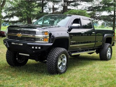 "2015 Chevrolet Silverado 2500 HD - 20x12 -44mm - Moto Metal Mo962 - Suspension Lift 7.5"" - 38"" x 15.5"""