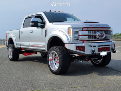 """2019 Ford F-350 Super Duty - 22x12 0mm - American Force Liberty Ss - Suspension Lift 4"""" - 35"""" x 12.5"""""""