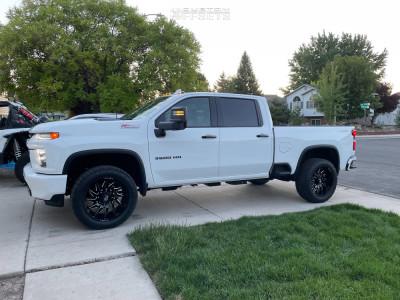 2021 Chevrolet Silverado 3500 HD - 22x10 -18mm - Fuel Saber - Stock Suspension - 285/55R22