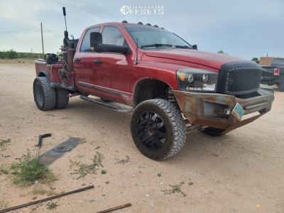 """2007 Dodge Ram 3500 - 24x12 -44mm - American Force Independence - Suspension Lift 6"""" - 37"""" x 13.5"""""""