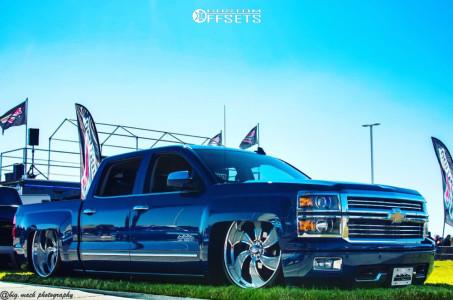 "2015 Chevrolet Silverado 1500 - 26x8.5 19mm - Intro Twisted Vista 2 - Air Suspension - 33"" x8.5"""