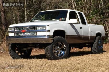 "1997 Chevrolet C1500 - 20x12 -44mm - Moto Metal MO962 - Suspension Lift 6"" - 35"" x 12.5"""