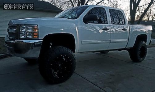 """2012 Chevrolet Silverado 1500 - 20x12 -44mm - Fuel Hostage - Suspension Lift 9"""" - 35"""" x 12.5"""""""