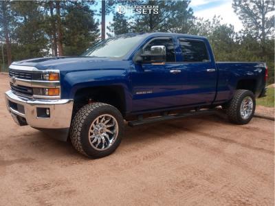2015 Chevrolet Silverado 2500 HD - 20x10 -18mm - Fuel Saber - Leveling Kit - 295/55R20