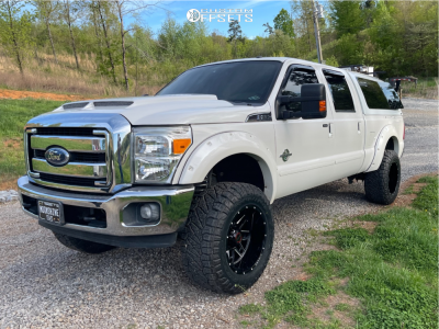 """2012 Ford F-350 Super Duty - 20x12 -44mm - Wicked Offroad W906 - Suspension Lift 3.5"""" - 325/60R20"""