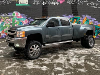 "2009 Chevrolet Silverado 3500 HD - 20x8 0mm - Cali Offroad Brutal - Suspension Lift 7"" - 0"" x12.5"""