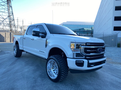 """2020 Ford F-250 Super Duty - 22x12 -44mm - American Force Kash Ss - Leveling Kit - 33"""" x 12.5"""""""