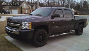 2010 Chevrolet Silverado 1500 - 18x9 20mm - Fuel Hostage - Leveling Kit - 285/65R18