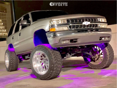 """2002 Chevrolet Tahoe - 22x14 -76mm - Fuel Forged Ff29 - Suspension Lift 8"""" - 37"""" x 13.5"""""""