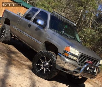 "2002 GMC Sierra 1500 - 20x9 0mm - Mayhem Rampage - Suspension Lift 6"" - 35"" x 12.5"""