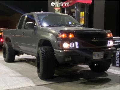 "2008 Chevrolet Colorado - 20x12 -44mm - Motiv Magnus - Suspension Lift 4"" - 33"" x 12.5"""