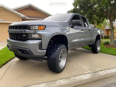 "2020 Chevrolet Silverado 1500 - 24x14 -76mm - American Force Jade Ss - Suspension Lift 6.5"" - 35"" x 14.5"""