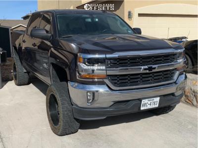 """2016 Chevrolet 1500 - 20x10 -24mm - Full Throttle Ft-5 - Suspension Lift 6.5"""" - 33"""" x 12.5"""""""