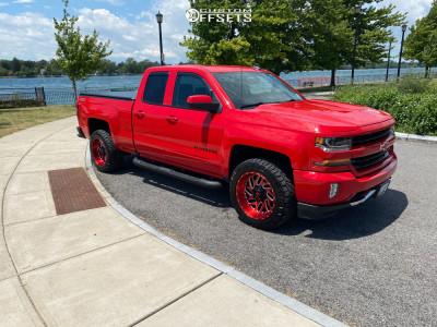 "2017 Chevrolet Silverado 1500 - 20x10 -19mm - Fuel Triton D691 - Stock Suspension - 32"" x 11.5"""