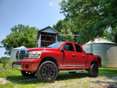 2008 Dodge Ram 1500 - 20x9 0mm - Weld Off-Road Chasm - Leveling Kit - 295/60R20