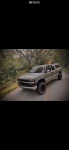 2000 Chevrolet Silverado 1500 - 17x9 0mm - Jegs D Window - Leveling Kit - 285/75R17
