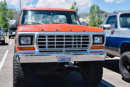 "1978 Ford F-150 - 15x10 -43mm - American Racing Baja - Suspension Lift 4"" - 35"" x 12.5"""