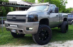 """2008 Chevrolet Silverado 1500 - 20x12 -44mm - Fuel Hostage - Suspension Lift 7.5"""" - 37"""" x 13.5"""""""