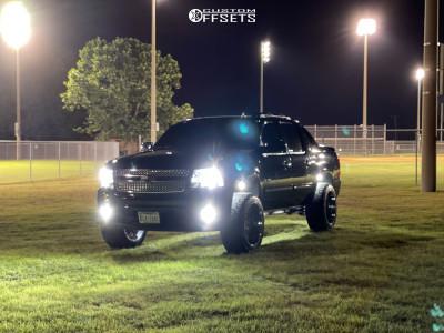 """2013 Chevrolet Avalanche - 22x12 -44mm - TIS 544c - Suspension Lift 3.5"""" - 33"""" x 12.5"""""""