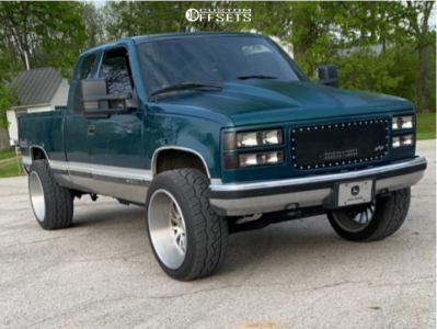 1997 Chevrolet K1500 - 22x12 -51mm - Cali Offroad Summit - Stock Suspension - 305/45R22