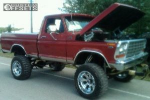 """1979 Ford F-350 - 20x12 -44mm - XD Armour - Suspension Lift 6"""" & Body 3"""" - 35"""" x 12.5"""""""