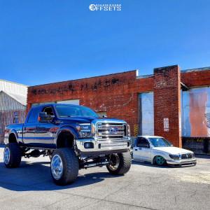 "2015 Ford F-250 Super Duty - 24x16 -101mm - Fuel Forged Ff16 - Suspension Lift 12"" - 40"" x 15.5"""